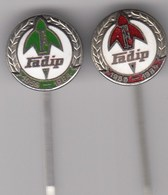 2 Enamel Pins Pin Badge Anstecknadel FADIP Becej Serbia Yugoslavia Faktory Parts For Tractor Car Lkw Hydraulic... - Badges