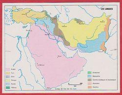 Les Langues En Arabie Saoudite, Syrie, Turquie, Iran, Irak, Afghanistan, Pakistan, Israël ... 1970. - Vieux Papiers