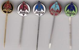 5 Enamel Pins Pin Badge Anstecknadel FADIP Becej Serbia Yugoslavia Faktory Parts For Tractor Car Lkw Hydraulic... - Badges
