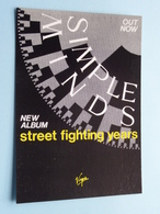 SIMPLE MINDS New Album Street Fighting Years ( Virgin ) Anno 19?? ( See/zie/voir Photo ) ! - Chanteurs & Musiciens
