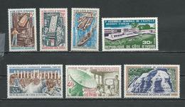 COTE IVOIRE Scott 291-293, 290, 318, 294, C41 Yvert 298-300, 297, 321, 302, PA45 (7) ** Cote 9,50 $ 1970 - Côte D'Ivoire (1960-...)