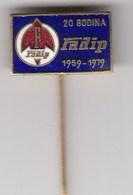 Enamel Pin Badge Anstecknadel FADIP Becej Serbia Yugoslavia Faktory Parts For Tractor Car Lkw Hydraulic... - Badges