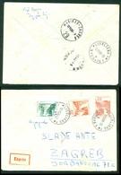 Yugoslavia 1959 Bahnpost Railway Post Maribor-Zagreb 29 Recommended Letter From Ljubljana Stationery - Covers & Documents