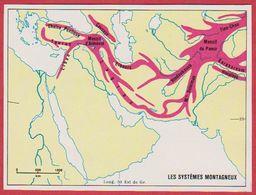 Le Système Montagneux En Arabie Saoudite, Syrie, Turquie, Iran, Irak, Afghanistan, Pakistan, Israël ... 1970. - Vieux Papiers