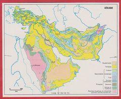 La Géologie En Arabie Saoudite, Syrie, Turquie, Iran, Irak, Afghanistan, Pakistan, Israël ... 1970. - Vieux Papiers