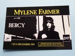 MYLENE FARMER Avec NRJ - BERCY ( NRJ ) Anno 1989 ( See/zie/voir Photo ) ! - Chanteurs & Musiciens
