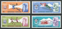 Togo YT N°556/559 Jeux Olympiques De Mexico Et D'hiver Grenoble 1968 Neuf ** - Togo (1960-...)