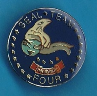 PIN'S //   ** US NAVY / SEAL / TEAM / FOUR ** - Army