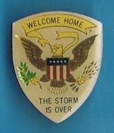 "PIN'S //   ** EMBLÈME DES ÉTATS-UNIS / "" WELCOME HOME THE STORM IS OVER "" ** - Army"