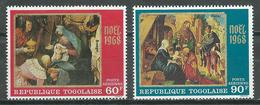 Togo Poste Aérienne YT N°102/103 Noel 1968 Tableaux Neuf ** - Togo (1960-...)