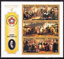 Aitutaki 1976 Rivoluzione Americana-Foglietto  Nuov0 MNH** - Aitutaki