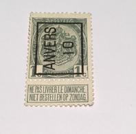 1910 - 1c Anvers - Typo Precancels 1906-12 (Coat Of Arms)