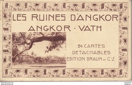 Au Plus Rapide Carnet Ruines D'Angkor Vath Photo Nadal Saïgon 24 CPA - Cambodia