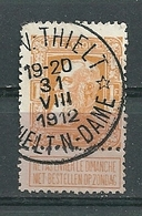 79 Gestempeld O-L-V THIELT - THIELT NOTRE DAME (sterstempel) - COBA 30 Euro - 1905 Grosse Barbe