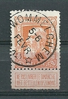 79 Gestempeld WOMMELGHEM (sterstempel) - COBA 15 Euro - 1905 Grosse Barbe