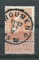 79 Gestempeld WOUMEN (sterstempel) - COBA 15 Euro - 1905 Grosse Barbe