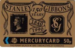 UK - Stanley Gibbons 150 Years 1840-1990, CN : 18MERD, Tirage 6000, Mint - [ 4] Mercury Communications & Paytelco