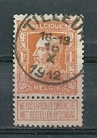 79 Gestempeld TILLEUR - COBA 4 Euro - 1905 Grosse Barbe