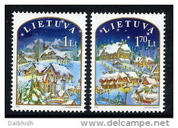 LITHUANIA 2003 Christmas Set Of 2 MNH / **.  Michel 830-31 - Lithuania