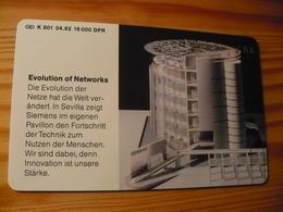 Phonecard Germany K 901 04.92. Siemens 16.000 Ex. - Germany