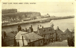 YORKS - WHITBY - WEST CLIFF FROM ABBEY STEPS  Y754 - Whitby