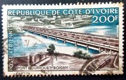 1959 Côte D'Ivoire Yt PA 19 . Pont Houphouet Boigny Poste Aérienne 200 Frs .Oblitéré - Côte D'Ivoire (1960-...)