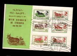 """Ethiopie - 1961 Full Set Of Wild Animals FDC / 1er Jour Serie Complete """"wild Animals"""" - Ethiopia"""