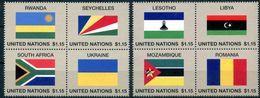 ONU New-York 2018 - Drapeaux Flags Flaggen - 2 Coeurs De Feuille Sheetheart Herzstücke ** - New York - Sede Centrale Delle NU