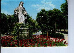 U4162 Cartolina ABANO TERME (padova) + Monumento (scultura) Al Filoso PIETRO D'ABANO NEL GIARDINO PUBBLICO _ Ed A.B.A. - Italia