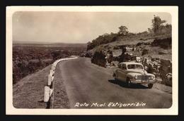 CA1940 RUTA MCA. ESTIGARRIBIA PARAGUAY RPPC POSTCARD CPA OLD CAR PEUGEOT  (W5-201) - Paraguay