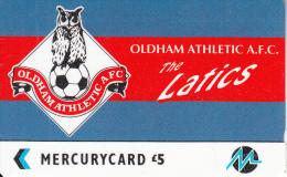 UK - Oldham Athletic F.C.(PYF044), CN : 4PFLS, Tirage %1900, Used - [ 4] Mercury Communications & Paytelco