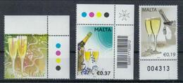 Malta 'Sekt' / Malta 'Champaign' **/MNH 2007/2010/2012 - Wein & Alkohol
