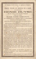 DP. HENRI BUYSE ° ISEGHEM 1856 - + 1926 - Godsdienst & Esoterisme