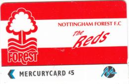 UK - Nottingham Forest F.C.(PYF042), CN : 3PFLQ, Tirage %5900, Used - [ 4] Mercury Communications & Paytelco