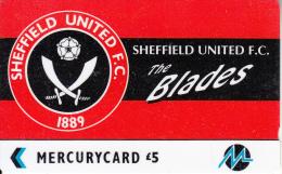 UK - Sheffield United F.C.(PYF052), CN : 3PFLU, Tirage %5900, Used - [ 4] Mercury Communications & Paytelco
