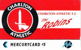 UK - Charlton Athletic F.C.(PYF010), CN : 3PFLY, Tirage %5900, Used - [ 4] Mercury Communications & Paytelco