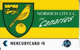 UK(GPT) - Norwich City F.C.(PYF038), CN : 3PFLS, Tirage %5900, Used - [ 4] Mercury Communications & Paytelco