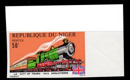 Yvert N° 316-319 ** ND Locomotives Train Imperf MNH - Niger (1960-...)