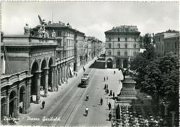 BOLOGNA  Piazza Garibaldi  Monumento Equestre Teatro Arena  Tram Con Pubblicità Campari Tramway - Bologna
