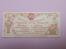 JOLIE CARTE PARFUMEE Ancienne  Pour Parfums SHYB - Perfume Cards