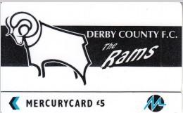 UK - Derby County F.C.(PYF016), CN : 3PFLT, Tirage %5900, Used - [ 4] Mercury Communications & Paytelco