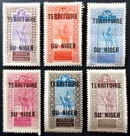 1921 Niger Camel And Rider 6 Valeurs Neufs Charnières  TERRITOIRE Du NIGER - Niger (1921-1944)