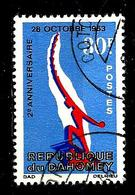 DAHOMEY 230° 30f Bleu, Rouge Et Outremer 2ème Anniversaire Du 28 Octobre (10% De La Cote + 015) - Benin - Dahomey (1960-...)