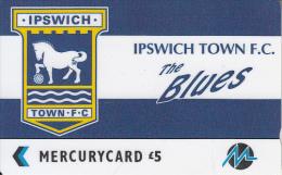 UK - Ipswich Town F.C.,  CN : 3PFLW, Tirage %5900, Used - [ 4] Mercury Communications & Paytelco