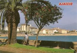 20. (2A). CPM. Corse Du Sud. Ajaccio. Le Boulevard Lantivy Avec Ses Palmiers Et Lauriers Roses (animée, Personnage) - Ajaccio