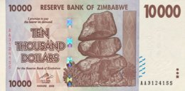 Zimbabwe 10.000 Dollars, P-72 (2007) - UNC - Zimbabwe
