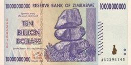Zimbabwe 10 Billion Dollars, P-85 (2008) - UNC - Simbabwe