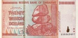 Zimbabwe 20 Trillion Dollars, P-89 (2008) - UNC - Simbabwe