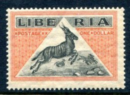 Liberia 1921 Key Stamp   Rare In MNH **XVF 1$ Antelope - Liberia