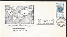 J) 1975 MEXICO, XV WORLD ROAD CONGRESS, MAP, FDC - Mexico
